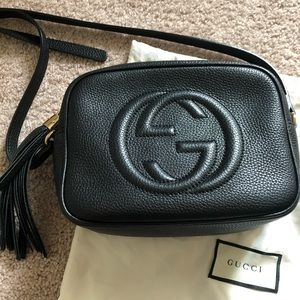 Gucci soho disco black bag